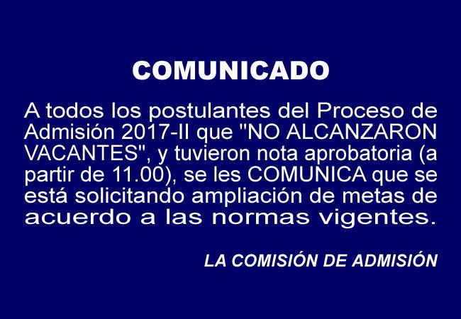 Comunicado-Admisión 2017-II