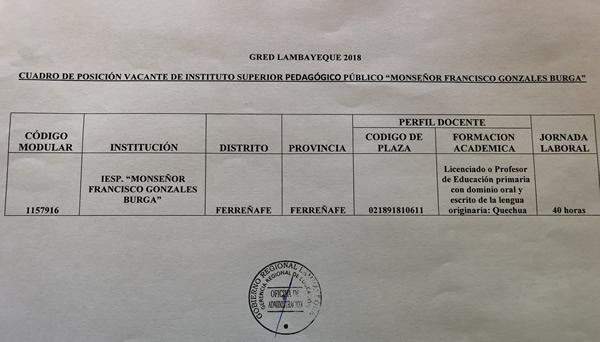 Convocatoria ii concurso contrataci n docente 2018 i for Convocatoria de plazas docentes 2017